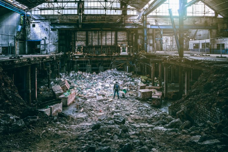 factory, destruction, disaster
